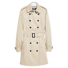 Buy Mango Classic Cotton Trench Coat, Light Pastel Brown Online at johnlewis.com