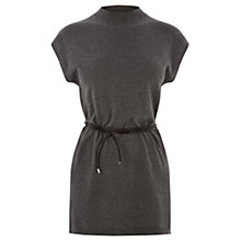 Buy Warehouse Plain Belted Tabard Top, Light Grey Online at johnlewis.com