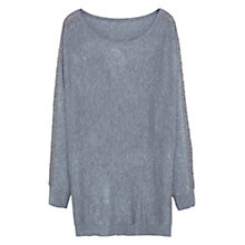 Buy Violeta by Mango Cotton Wool Sweater, Medium Grey Online at johnlewis.com