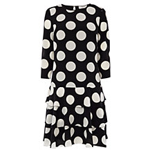Buy Coast Kelis Spot Dress, Black/White Online at johnlewis.com