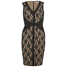 Buy Gina Bacconi Lace And Pintuck Bodycon Dress, Black Online at johnlewis.com