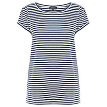 Buy Warehouse Stripe Boyfriend T-Shirt, Blue Stripe Online at johnlewis.com