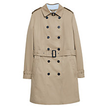 Buy Violeta by Mango Classic Cotton Trench Coat, Light Pastel Brown Online at johnlewis.com