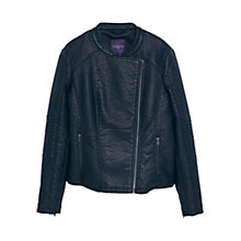 Buy Violeta by Mango Zipped Biker Jacket, Black Online at johnlewis.com