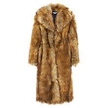 Buy Whistles Wolfie Faux Fur Coat, Camel Online at johnlewis.com