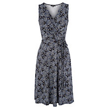 Buy Warehouse Zen Floral Wrap Dress, Bright Blue Online at johnlewis.com