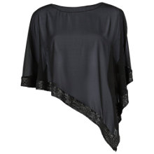 Buy Gina Bacconi Chiffon Cape With Sequin Edge, Black Online at johnlewis.com