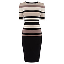 Buy Karen Millen Graphic Shiny Dress, Neutral/Multi Online at johnlewis.com