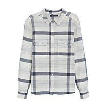 Buy Violeta by Mango Check Cotton Shirt, Natural White Online at johnlewis.com