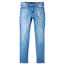 Buy Violeta by Mango Slim Pollock Jeans, Open Blue Online at johnlewis.com