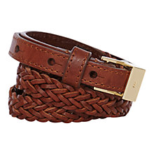 Buy Karen Millen Woven Skinny Waist Belt Online at johnlewis.com