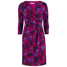 Buy Gina Bacconi Wool Effect Printed Jersey Dress, Plum Online at johnlewis.com