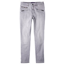 Buy Violeta by Mango Slim Fit Vicky Jeans, Open Grey Online at johnlewis.com
