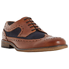 Buy Dune Braker Combo 2-Tone Brogue Derby Shoes, Tan Online at johnlewis.com