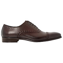 Buy Dune Reigates Detail Toecap Oxford Shoes, Burgundy Online at johnlewis.com