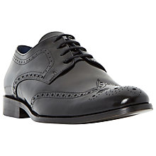 Buy Dune Rio High Shine Leather Brogue Shoes, Black Hi-Shine Online at johnlewis.com