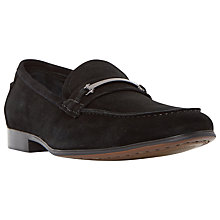 Buy Dune Runcorn Metal Saddle Trim Loafers, Black Online at johnlewis.com