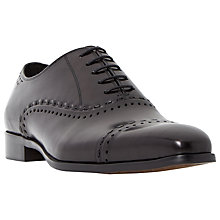 Buy Dune Reigates Detail Toecap Oxford Shoes, Black Online at johnlewis.com
