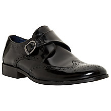 Buy Dune Robo Hi-Shine Leather Monk Shoes Online at johnlewis.com
