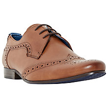 Buy Dune Rodders Leather Brogue Derby Shoes Online at johnlewis.com