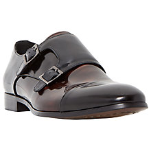 Buy Dune Reynold Toecap Monk Hi-Shine Leather Shoes Online at johnlewis.com