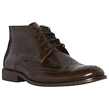 Buy Dune Manhatten Hi-Shine Wingtip Brogue Ankle Boots Online at johnlewis.com