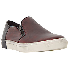 Buy Dune Taxi Cab Double Zip Slip On Leather Trainers Online at johnlewis.com