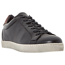 Buy Dune Triffic Leather Cupsole Trainers Online at johnlewis.com
