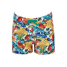 Buy John Lewis Boys' Bug Print Swimming Trunks, Green Online at johnlewis.com