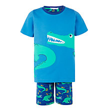 Buy John Lewis Boys' Crocodile Short Pyjamas, Blue Online at johnlewis.com