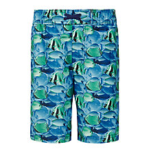 Buy John Lewis Boys' Tropical Fish Boardie Swim Shorts, Blue Online at johnlewis.com