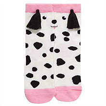 Buy John Lewis Girl Dalmatian Socks, White/Black Online at johnlewis.com