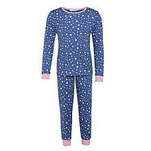 Buy John Lewis Man on the Moon Glow in the Dark Star Pyjamas, Blue/Pink Online at johnlewis.com