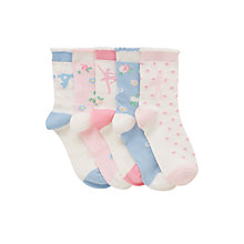 Buy John Lewis Girl Ballerina Socks, Pack of 5, Multi Online at johnlewis.com