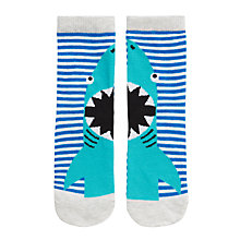 Buy John Lewis Shark Socks, Blue Online at johnlewis.com