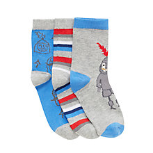 Buy John Lewis Boy Knight Socks, Pack of 3, Multi Online at johnlewis.com