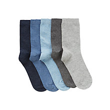 Buy John Lewis Boy Marl Socks, Pack of 5, Multi Online at johnlewis.com