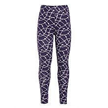 Buy John Lewis Girls' Abstract Knot Print Leggings, Navy Online at johnlewis.com