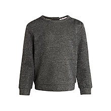 Buy John Lewis Girls' Metallic Fibre Sweater, Grey Online at johnlewis.com