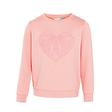 Buy John Lewis Girls' Heart Sweatshirt, Pink Online at johnlewis.com