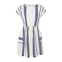 Buy John Lewis Girls' Stripe Dress, White/Blue Online at johnlewis.com