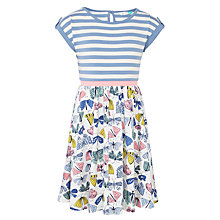 Buy John Lewis Girls' Butterfly Print Jersey Dress, Blue Online at johnlewis.com