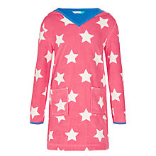 Buy John Lewis Girls' Stars Toweling Dress, Pink Online at johnlewis.com