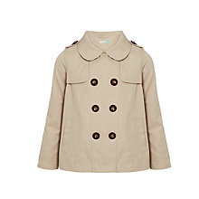 Buy John Lewis Girls' Swing Coat, Stone Online at johnlewis.com