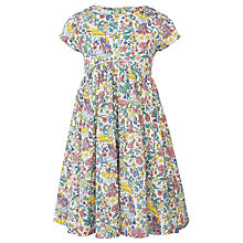 Buy John Lewis Girls' Peacock Print Dress, Multi Online at johnlewis.com