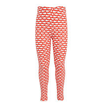 Buy John Lewis Girls' Whale Print Leggings, Red Online at johnlewis.com