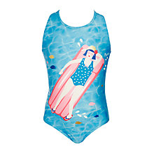 Buy John Lewis Girls' Nautical Bella Swimming Costume, Multi Online at johnlewis.com