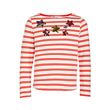 Buy John Lewis Girls' Breton Sequin Star T-Shirt Online at johnlewis.com