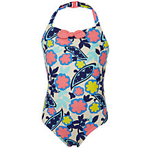 Buy John Lewis Girls' Pretty Sweetpea Print Swimsuit, Multi Online at johnlewis.com