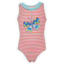 Buy John Lewis Girls' Butterfly Swimsuit, Pink Online at johnlewis.com